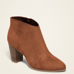 Faux Suede Old Navy Booties